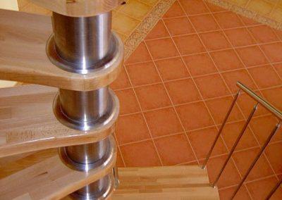 Detail točité schodisko