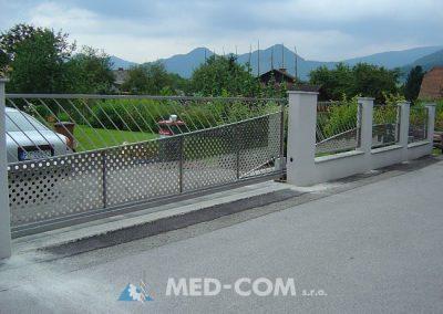 Nerezová brána posuvna - na výsuvnom profile 2